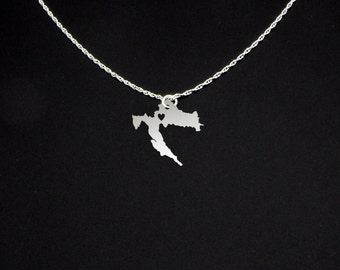 Croatia Necklace - Croatia Gift - Croatia Jewelry