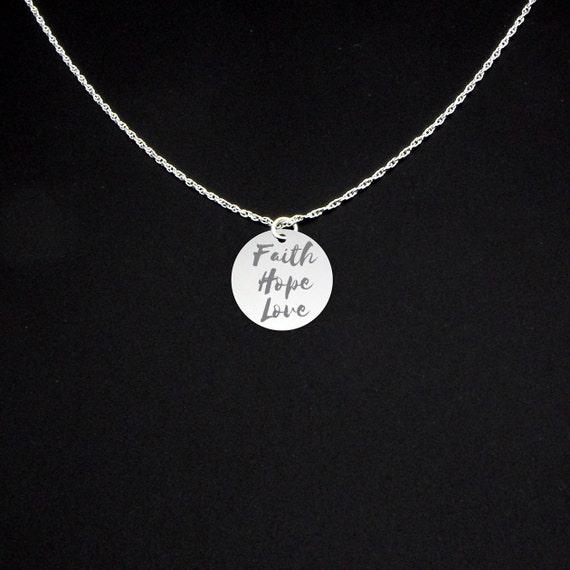 Faith hope love necklace faith hope love jewelry faith for Faith hope love jewelry