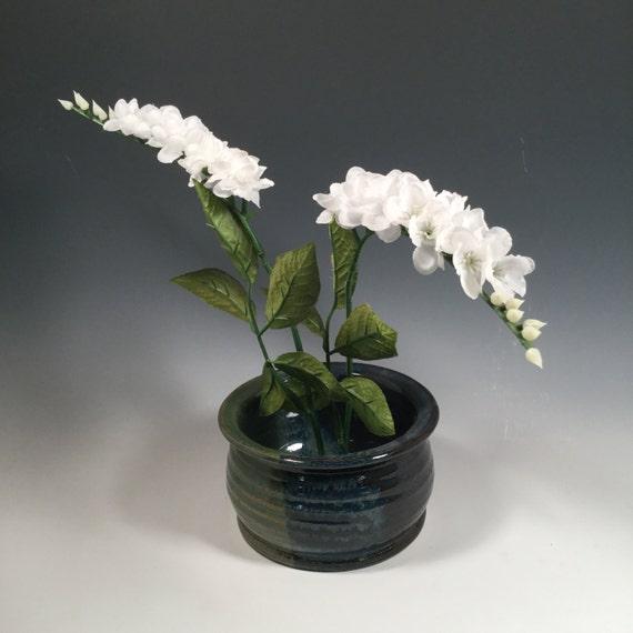Ikebana Flower Pot Round Asian Vase Flower Frog Japanese