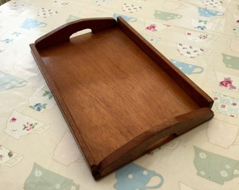 1950s Large Oak Tray Vintage Kitchen Dining Serving