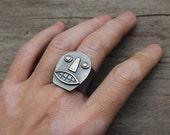 Silver Calavera ring #6