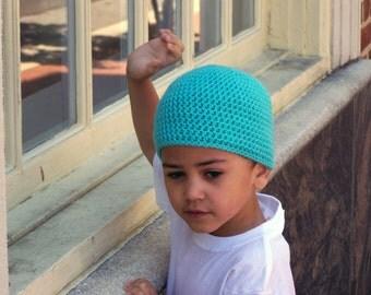 Crochet Beanie - Crochet Hat for Kids - Boys Hat - Crochet Hat - Beanie Hat - Boy Beanie - Hat for Boys - Kids Hat - Kids Beanie - Turquoise