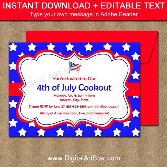 labor day bbq invitation 4th of july invitation memorial day