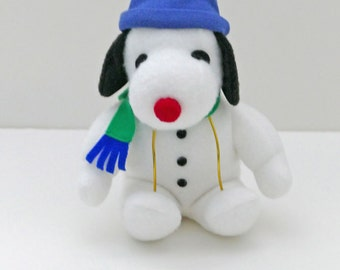 Snoopy Plush Doll with Winter Hat and Scarf