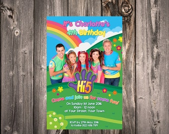 HI 5 new team cast Printed Invitations