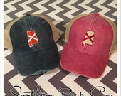 Alabama Flag State Distressed Trucker Cap