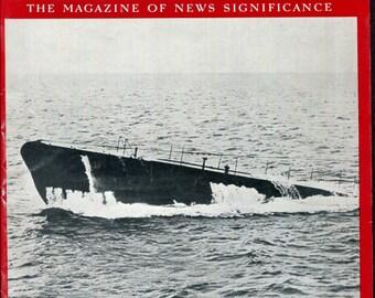 Newsweek September 18 1939 German Submarine World War Two History Birthday Birth Date Gift Vintage Magazine