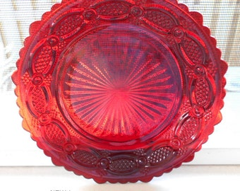 Avon 1876 Cape Cod Ruby Red Dessert / Salad / Side Plate /7.5""