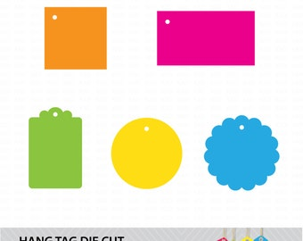Hang Tag Shape Files - Multiple Formats - Die Cutting, Laser and Scrapbooking