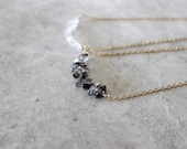 Herkimer Diamond Necklace, Stacked Stone Necklace