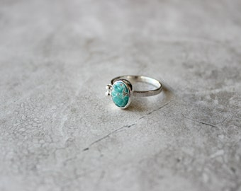 Carico Lake Turquoise Ring, Ring Size 7 US, One Of A Kind
