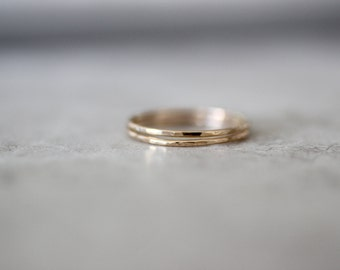 Gold Stacking Ring, Delicate Ring, Gold Fill Ring, Midi Ring