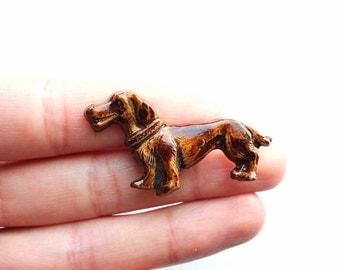Vintage Dachshund Wiener Dog Pin
