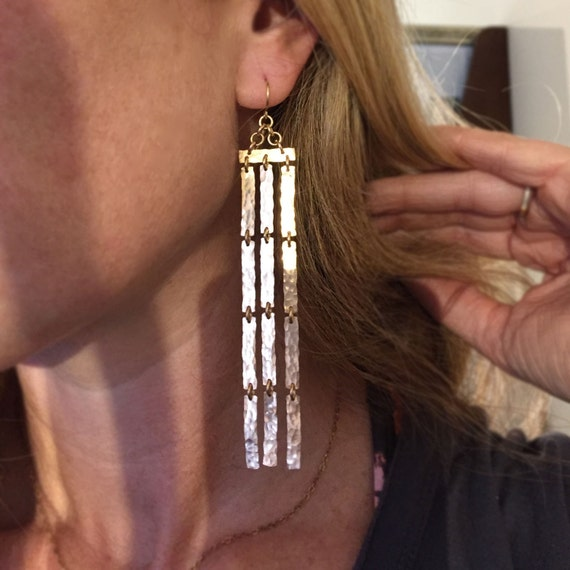 Bronze Falls Earrings