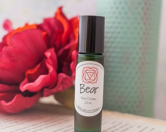 Bear Perfume and Chakra Oil for the Root Chakra Chakra Oil Set Wicca Perfume