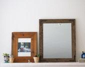 Rustic Wall Mirror - Wall Mirror - 20 x 24 Vanity Mirror - Bathroom Mirror - Rustic Mirror - Reclaimed Wood Mirror - Bathroom Vanity