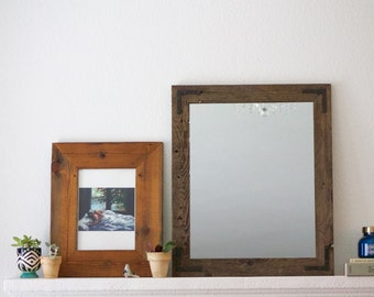 Rustic Wall Mirror - Wall Mirror - 20 x 24 Vanity Mirror - Bathroom Mirror - Rustic Mirror - Reclaimed Wood Mirror - Bathroom Vanity