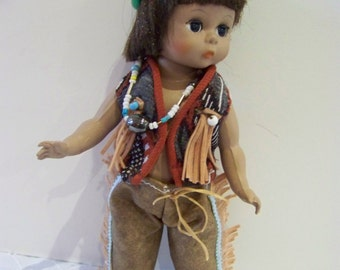 Indian boy home made clothing on 8 in alexander doll thanksgiving