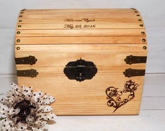 Wedding Card Box, Memory Box, Keepsake Box, Advice Box, Rustic Wedding, Card Boxes, Wedding Shower Gift, Gifts For the Couple, Chic
