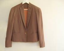 Victorian Riding Jacket, Hunter Jacket, Beige Wool Blazer, Edwardian, Classy Lady, Bavarian Dirndl Jacket, Trachten, TOMBOY Medium
