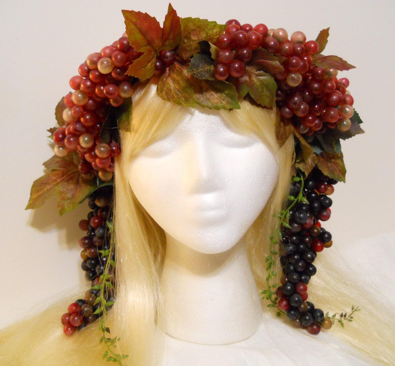 Grape Crown Bacchus Crown Grape Vine Wreath Laurel God Goddess