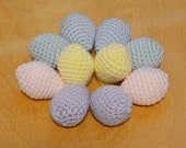 Sale - Easter Eggs, Crochet Eggs, Colored Eggs, Set of 10