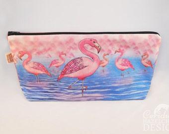 Flamingo Toiletry Wash Bag / Makeup Bag / Pencil Case