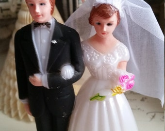 Darling Vintage Bride and Groom Wedding Cake Topper