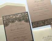 Vintage Lace Wedding Invitation - Deposit To Get Started - Vintage Wedding Invite - Lace Wedding invite - Boho Wedding Invite
