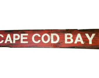 Cape Cod Distressed Sign on Reclaimed Wood. Cape Cod Bay.