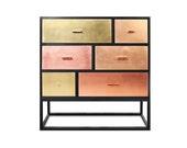 Sideboard Reykjavik. Midcentury Modern. Copper, Bronze, Brass. Luxury Furniture.