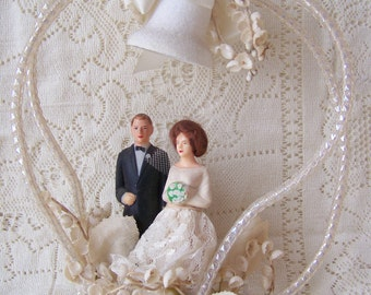 Vintage Wedding Cake Topper. Made in Hong Kong.Wedding Vintage Cake Topper.Vintage Wedding Decor.Shabby Chic Wedding Decor.Something Old.