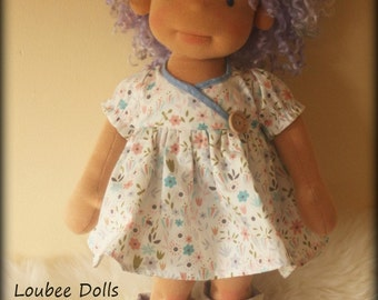 "Waldorf inspired doll called Pip , 18"" tall"
