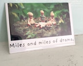 "China Dolls Photo Magnet Fridge Decoration ""Miles of Drama"" Silly Doll"