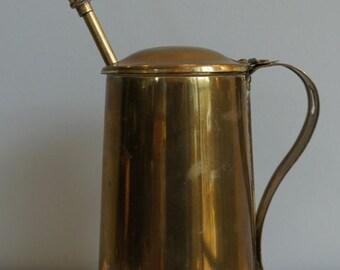 Vintage brass fire starter - smudge pot