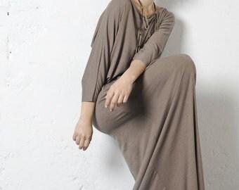 FW1516    Maxi T-shirt dress (Boat neck)