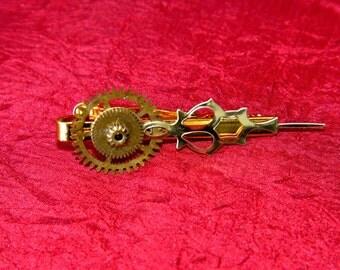Brass Gears Brass Hand Tie Clip