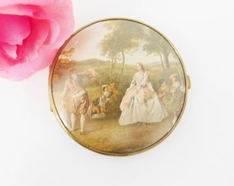 Compact Mirror Made in Germany, Purse Mirror, Vintage Compact, German Mirror
