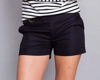 "shorts ""busy Lizzie"", black"