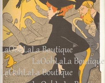 1892 Divan Japonais Digital Print Café Concert Toulouse Lautrec Art Nouveau Belle Époque Moulin Rouge Paris Printable Graphic Image Download