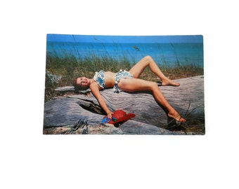 Cheesecake Postcard RRPC Swimsuit Model  2035 Time Out for Sun
