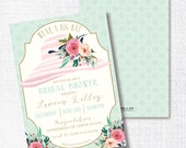 WEAR A HAT tea party bridal shower invitation watercolor flower brunch wedding luncheon southern floral bachelorette Kentucky Derby Easter
