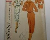 Vintage Simplicity Pattern 2577 Misses Size 14 Dress  Factory Fold