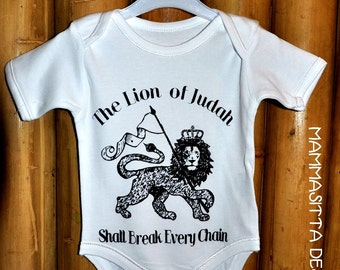 Lion of Judah  print on baby onesie