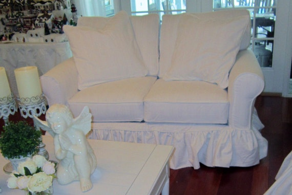 1-2 Cushion Love Seat - Under 61 inches - Custom Slipcover