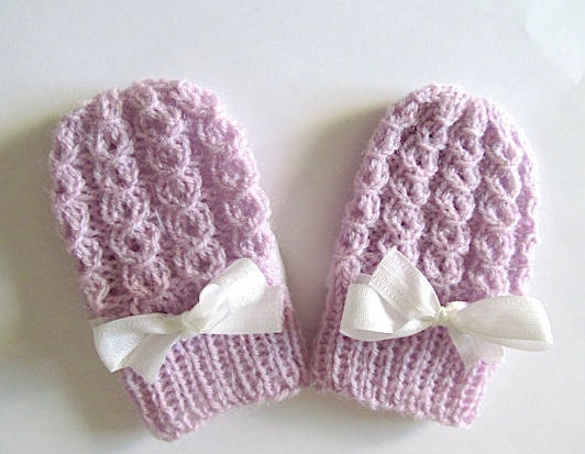 Knitting Pattern For Toddler Mittens With Thumbs : PDF Knitting PATTERN Baby Thumbless Mittens Infant Mitts