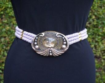 Vintage Purple Waist Belt, Unique Belt, Cool Vintage Belt, Mermaid Belt, Statement Belt, One of a Kind, Costume Belt
