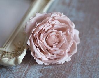 Wedding Rose Clip, Bridal Hairpiece, Elegant Hair Accessory, Blush Wedding Hair Accessory, Romantic Bridal Hair Flower, Blush Headpiece