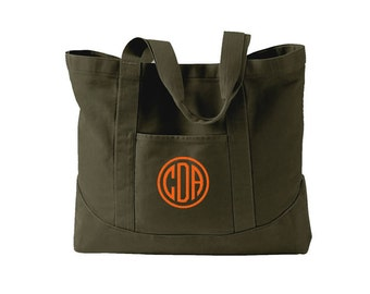Monogram Canvas Tote Bag  in 7 colors