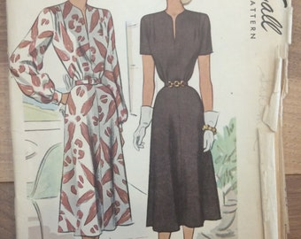 Vintage 1940's Dress Pattern McCall 7299